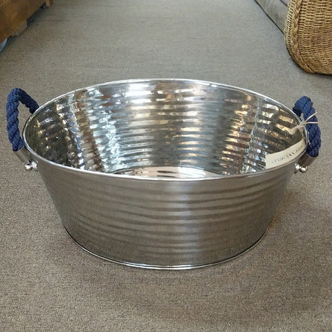 BLUE ROPE HANDLED STEEL WINE COOLER