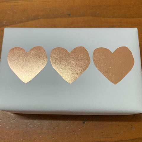 SOAP LEMONGRASS GOLD FOIL HEARTS