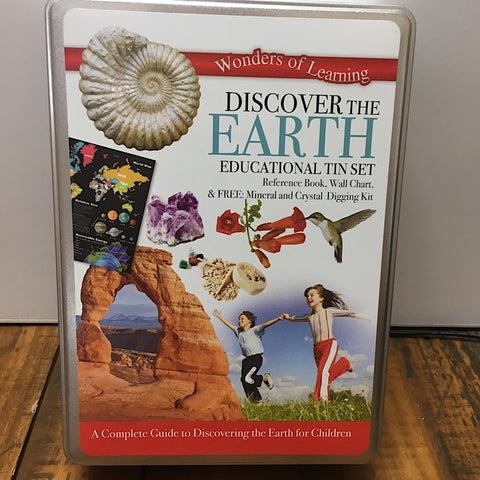 DISCOVER THE EARTH EDUCATIONAL TIN KIT