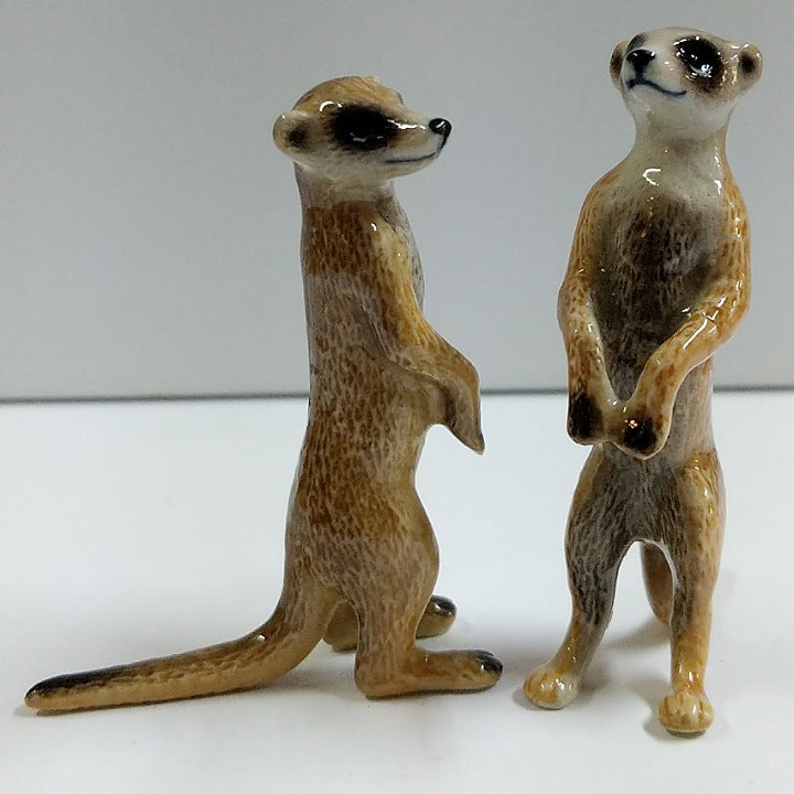 PORCELAIN FIGURINES MEERCAT DUO