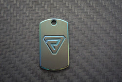 Zirconium Mini Tags - Heat-Colored