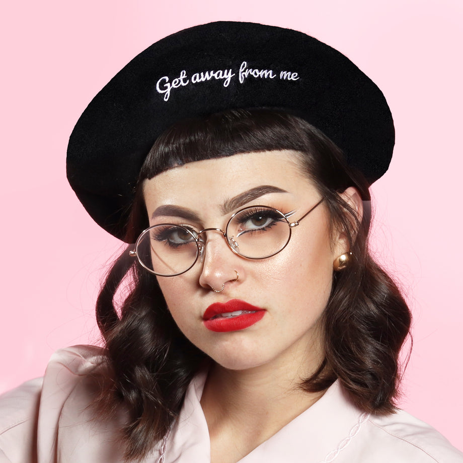 Get Away From Me Beret - Black – Just Peachy 3133d332f9d