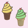 Soft Serve Snake Pin