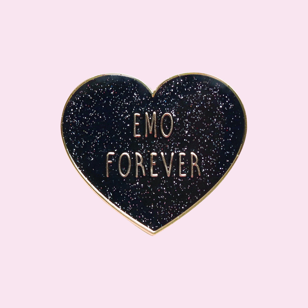 Emo Forever Pin