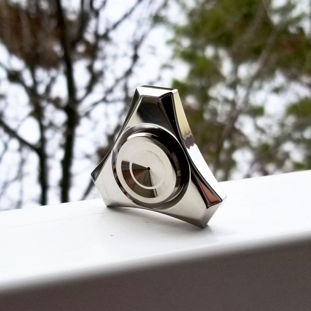 Proxima Tri Metal Fidget Spinner, R188 Press-fit Bearing