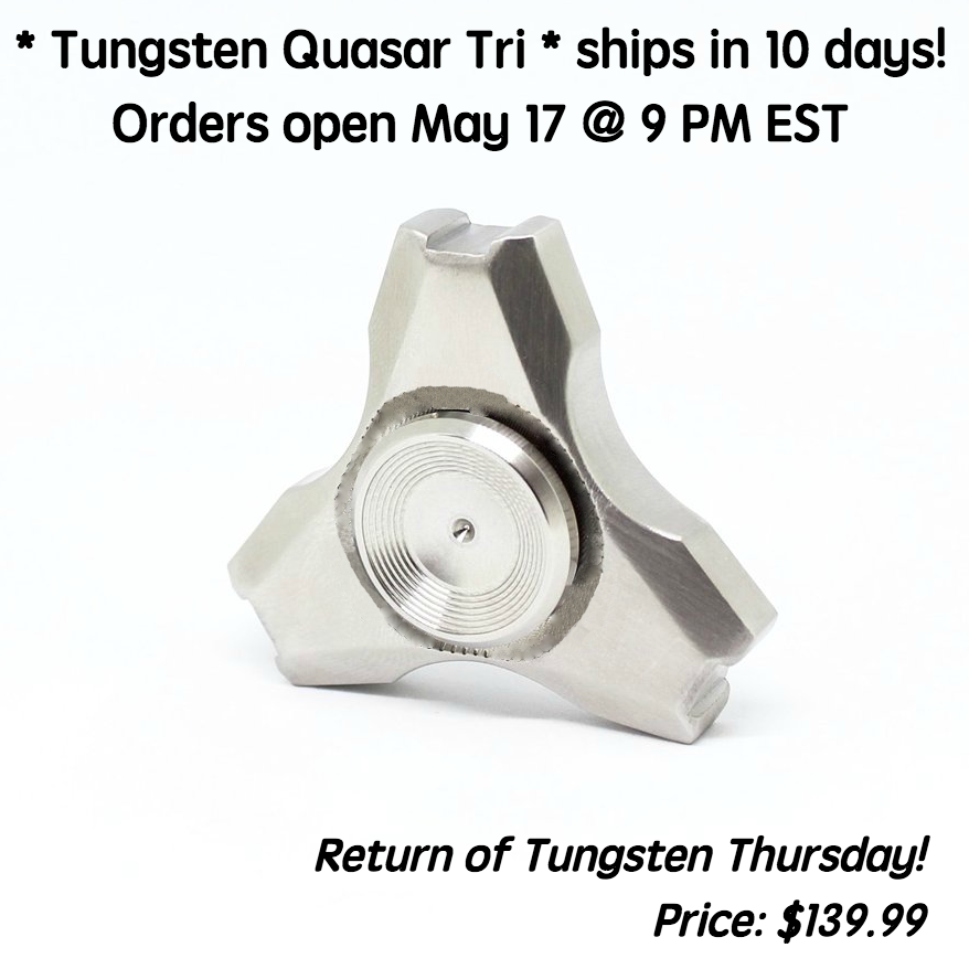 Tungsten Quasar Tri Fidget Spinner - ships in around 10 days