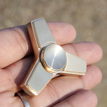 Zentri™ Metal Fidget Spinner, Tri Stainless Steel, Brass & more with R188 Removable Bearing