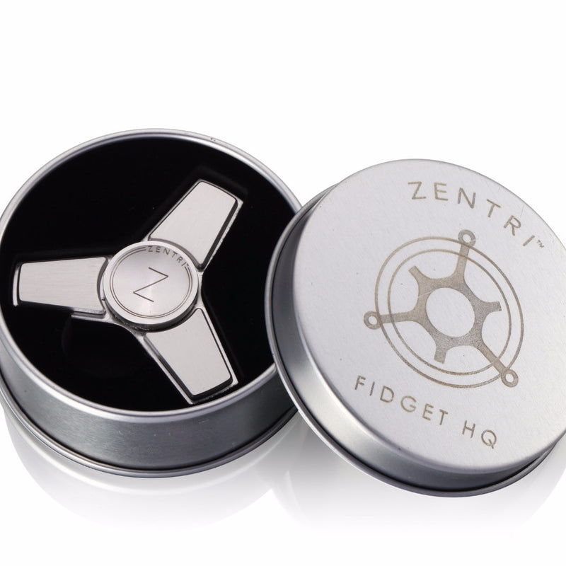 """Zentriâ""""¢ Metal Fid Spinner Tri Stainless Steel Brass & more with"""