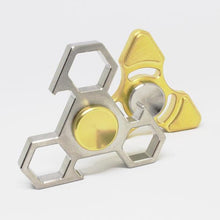 Votri Fidget Spinner, Brass Tri with R188 Removable Bearing
