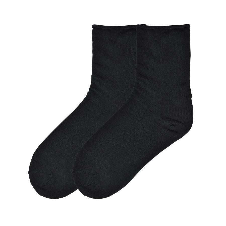 Black Loose Ankle Socks