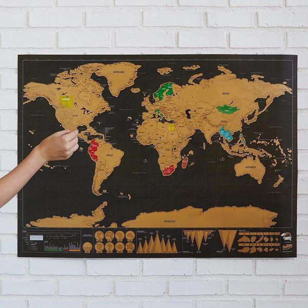 Deluxe Travel Scratch Map - Limited Edition