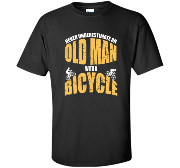 Never Underestimate An Old Man With A Bicycle Cool T-Shirt