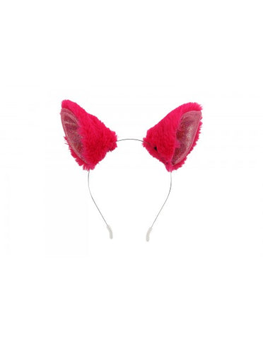 Magenta Anime Cat Ears Headband