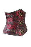 C-Lock Red Brocade Underbust Corset
