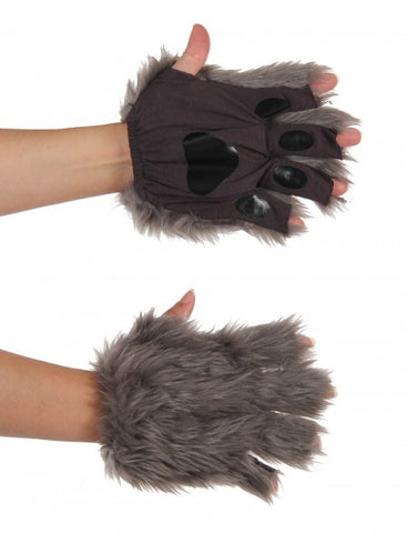 Grey Fingerless Animal Paws