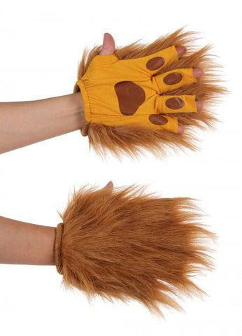 Lion Brown Fingerless Animal Paws