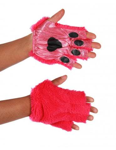Magenta Fingerless Animal Paws