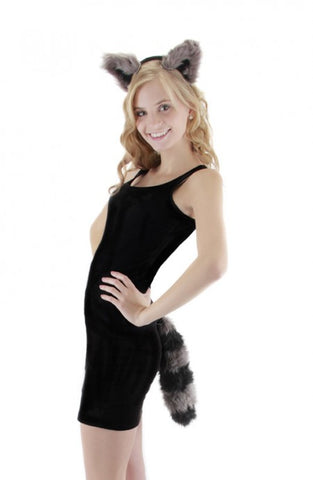 Raccoon Ears Headband & Tail Kit
