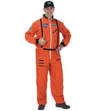 ASTRONAUT SUIT, W/ EMBROIDERED CAP (ORANGE) ADULT