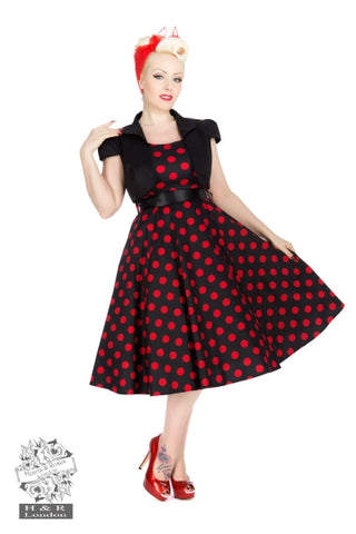 Bolero Dress in Red Dot