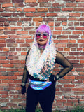 Chunky Iridescent Mermaid Scale Infinity Scarf