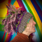 Handmade Multi Colored Wool Hat/ Beanie/ Snowboarding Hat