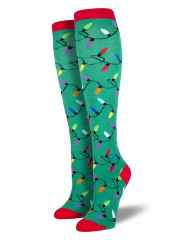 "SOCKSMITH ""Christmas Lights"" Women's Knee-High Socks"