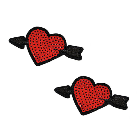 Cupid's Arrow Heart Sequin Nifty Pasties