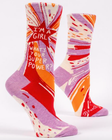 What's Your Superpower? Women's Socks
