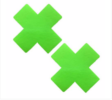 Apple Fruitella UV Wet Vinyl Green Nipztix X Factor Pasties
