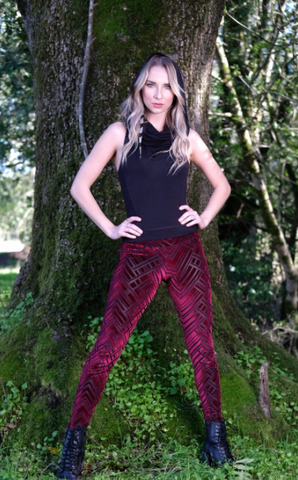 Warrior Within Chevron Leggings (More Colors Available)