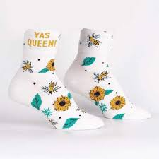 Yas Queen Women's Turn Cuff Crew Socks