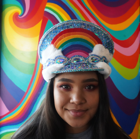 Rainbow Cloud Hat