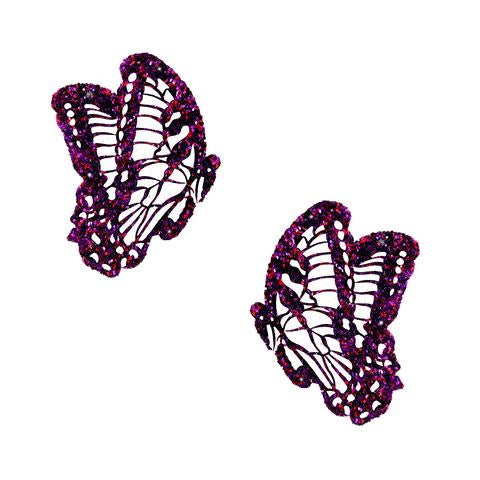 Super Sparkle Purple Glitter Butterfly Pasties