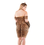 Cinched Up Leopard Kitty Plus Size Costume