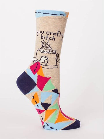 You Crafty B*tch Womens Crew Socks