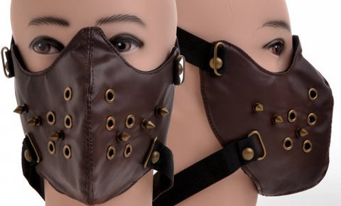 Brown Spike Vinyl Face Mask