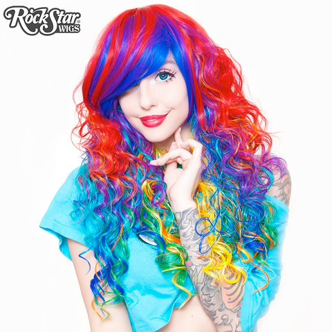 Rainbow Rock- Hair Prism by Rockstar Wigs