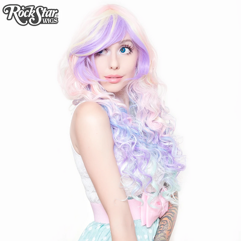 Rainbow Rock- Hair Prism in Pastel by Rockstar Wigs