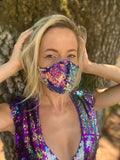 Sequin Galaxy Reversible Face Mask