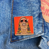 Stevie Wonder Enamel Pin