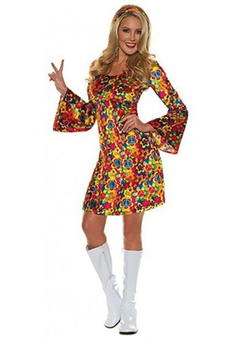 Flower Child Hippie Dress