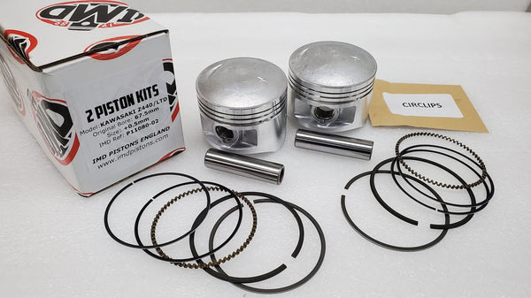 Kawasaki 80-83 KZ440 Piston Kit - 2 Kits - .50mm OS - New Repro