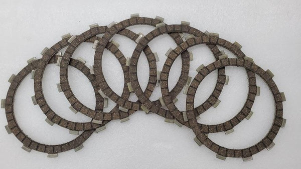 Kawasaki KLR650 ZX600 KZ550 EX500 EN500 Clutch Friction Disc - Set of 7