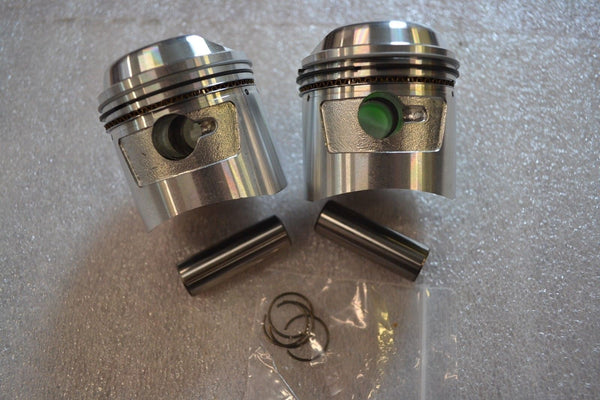 Honda CB175 CD175 CL175 SL175 Piston Kit - 2 Kits - 1.00mm OS - New Repro