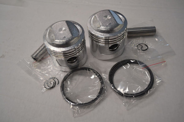 Honda CB200 CL200 CB200T Piston and Ring Kit - 2 Kits - STD Size - New Reproduct