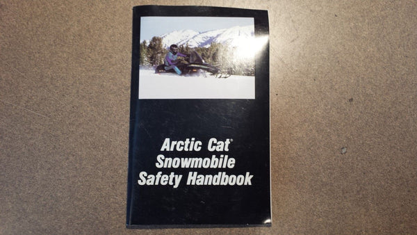 Arctic Cat 1992 Print Date Safety Manual Handbook
