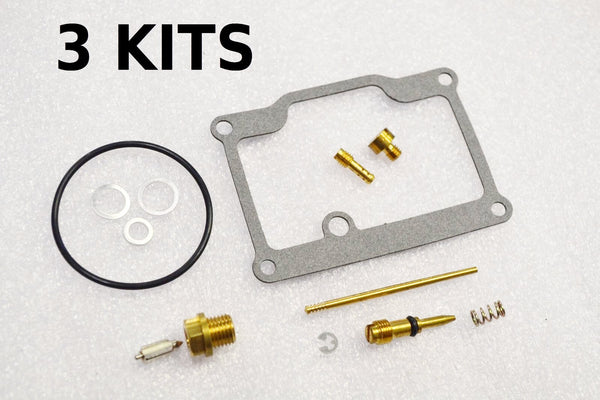 3x Suzuki 74-77 GT550 Carburetor Carb Rebuild Kit - 3 KITS
