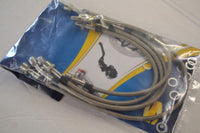Moto Guzzi Stainless Steel Brake Line Hose Kit for 850 T3