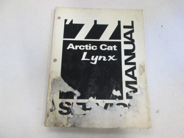 Arctic Cat Service Shop Manual 1977 Lynx - Used